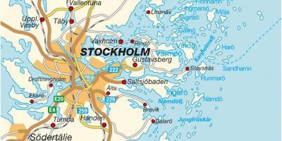 ستوكهولم خريطة خرائط ستوكهولم Sodermanland و أبلاند السويد